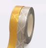 5. Embossed metallic ribbon