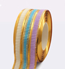9. Ribbon 2 golden stripes corrugated